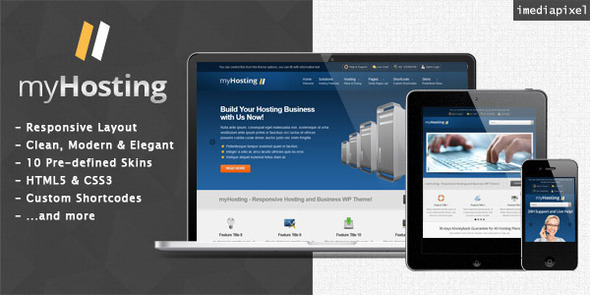 01 myhosting   large preview1 15 Premium Hosting Wordpress Themes