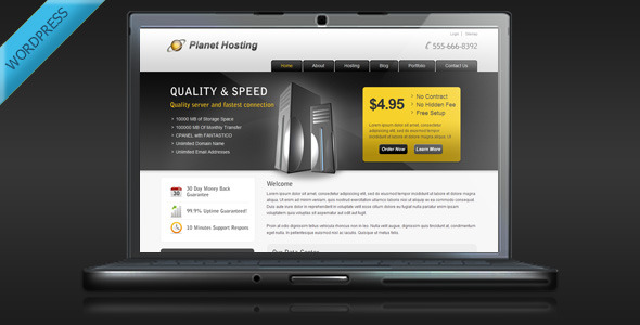 01 planethosting wp preview   large preview1 15 Premium Hosting Wordpress Themes