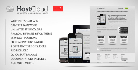01 preview hostcoudwp   large preview1 15 Premium Hosting Wordpress Themes