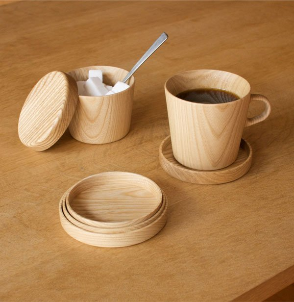 Kami Wood Nesting Coasters