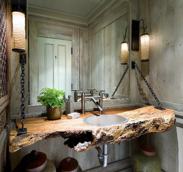 Natural Wood Vanity