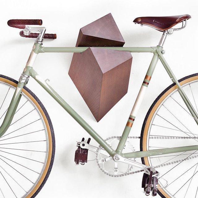 Oak Wood Bike Hanger by Woodstick