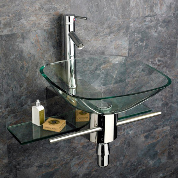 Wall Mounted Glass Basin