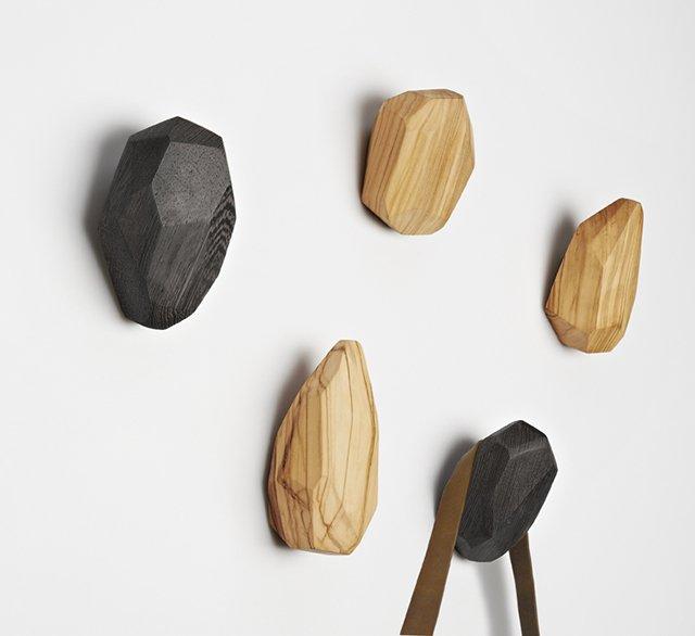 Stone Wood Wall Hook