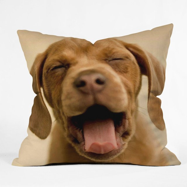 Dog Print Throw Pillow