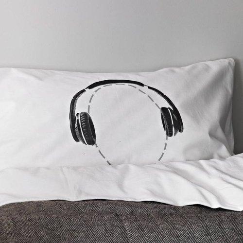 Headphones Head Case Pillow Case