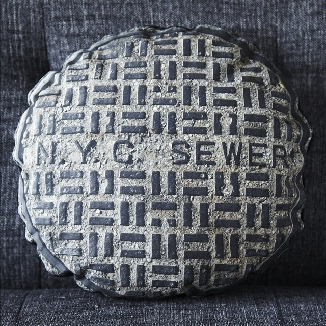 NYC Sewer Pillow