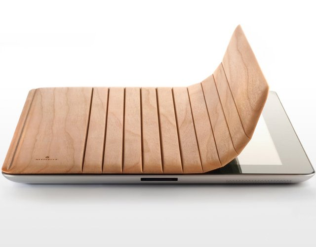 Mk2 Wood iPad Cover by Miniot