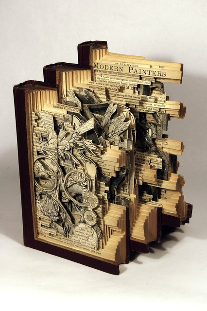 Modern Painters, Altered Books by Brian Dettmer