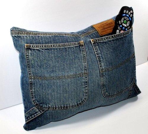 Denim Jeans Pocket Pillow