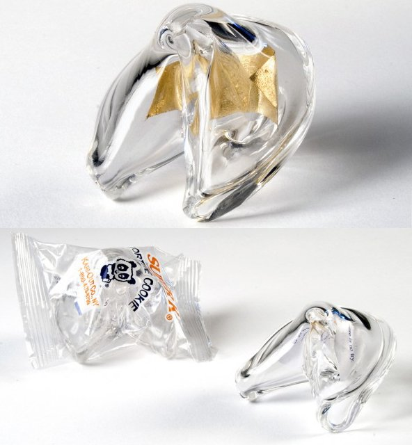 Glass Fortune Cookie