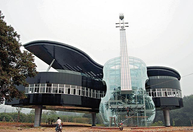 Piano & Violin Building in Huainan City, China