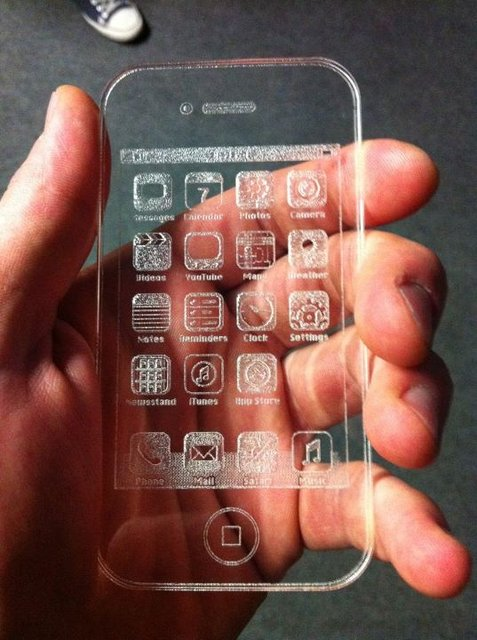 Etched Glass iPhone by Igor Voloschuk