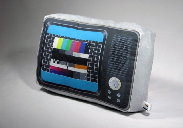 Retro TV Pillow