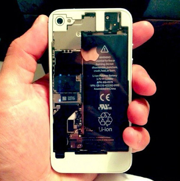 iPhone 4S Transparent Rear Panel