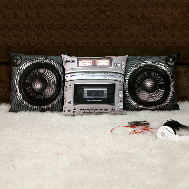 Boombox Pillow Set by Meninos
