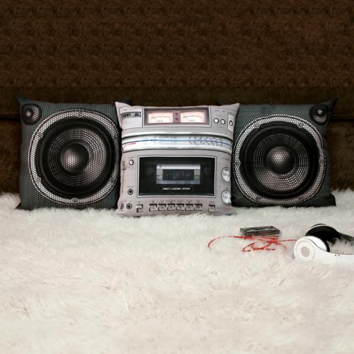 Boombox Pillow Set by Meninos