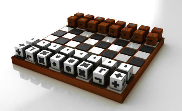 Chess Set for the Blind by Duncan McKean
