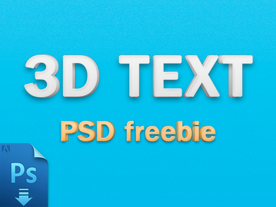 3D Text Effect [PSD] by Alphabit