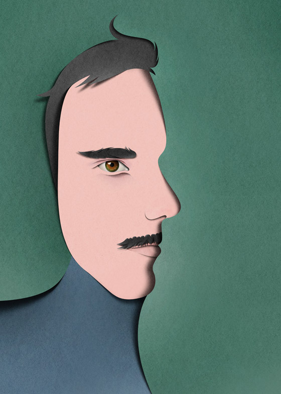 Portrait with profile