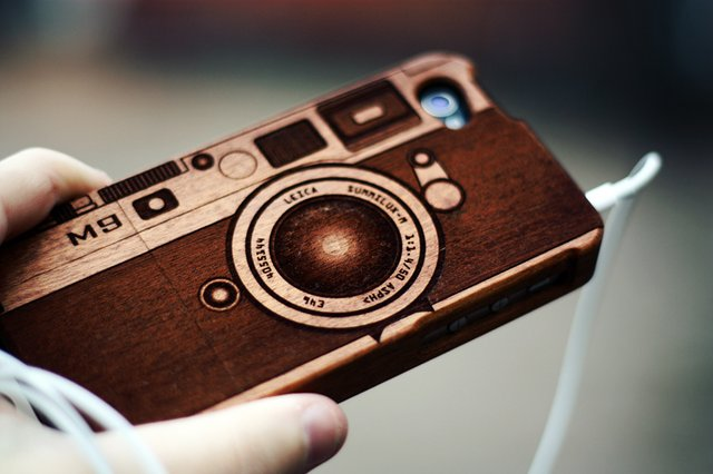 M9 Camera Wood iPhone Case