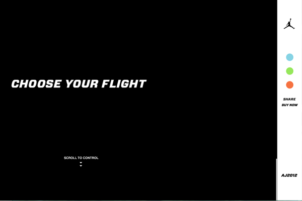 air jordan 2012 35 Interactive Parallax Scrolling Website Designs