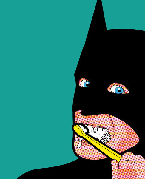 batbrush The Secret Life of Heroes by Greg Guillemin