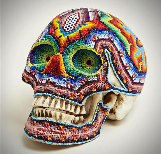 COLORFUL BEADED SKULLS
