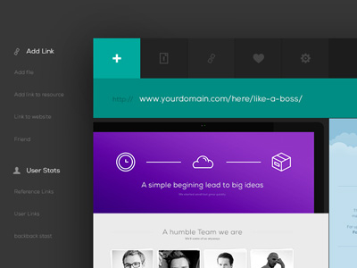 Ui Kit Web App Header by Blaz Roba