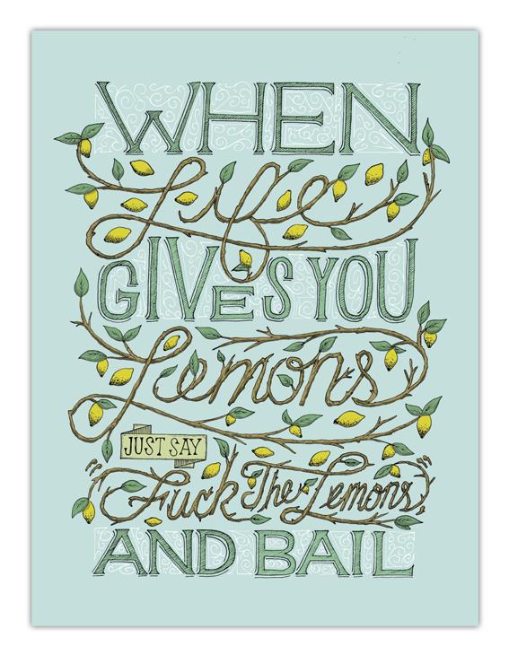 When life gives you lemons by Greg Christman