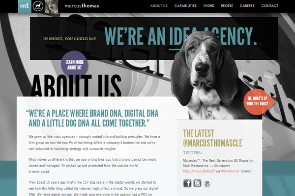 marcusthomasllc 35 Interactive Parallax Scrolling Website Designs