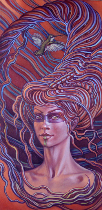 midnight humming 721 Visionary and Interdimensional Art by Amanda Sage