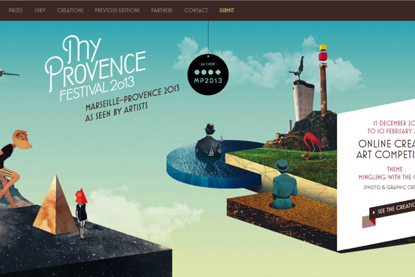 myprovence 35 Interactive Parallax Scrolling Website Designs