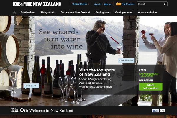new zealand 35 Interactive Parallax Scrolling Website Designs