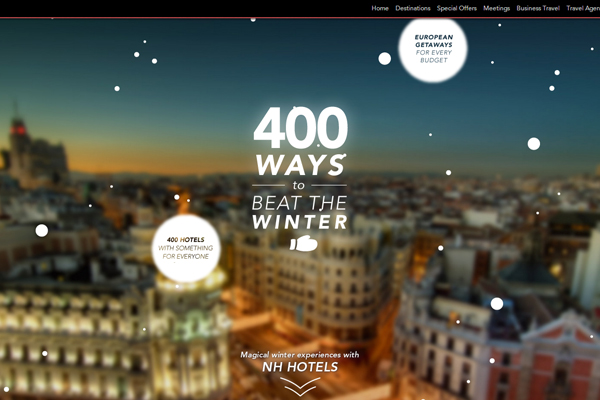 nh winter holidays 35 Interactive Parallax Scrolling Website Designs