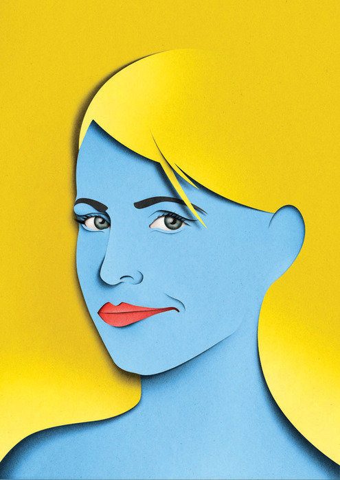 portraits 2 Paper Collages and Illustrations by Eiko Ojala