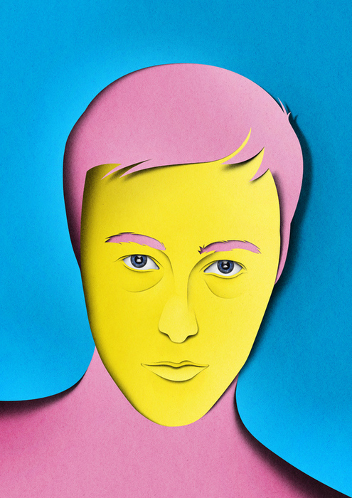 portraits 8 Paper Collages and Illustrations by Eiko Ojala