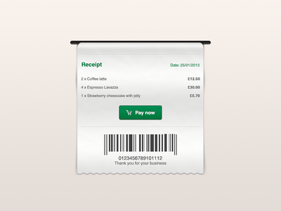 Receipt Freebie by Greg Dlubacz