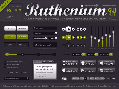 Ruthenium GUI Kit by Despoth