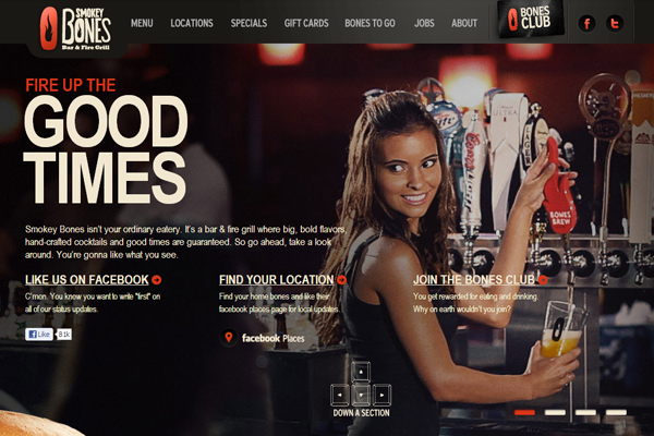 smokeybones 35 Interactive Parallax Scrolling Website Designs