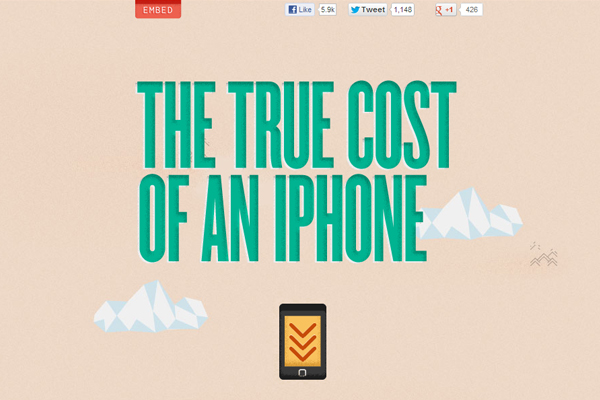 the true cost of an iphone 35 Interactive Parallax Scrolling Website Designs