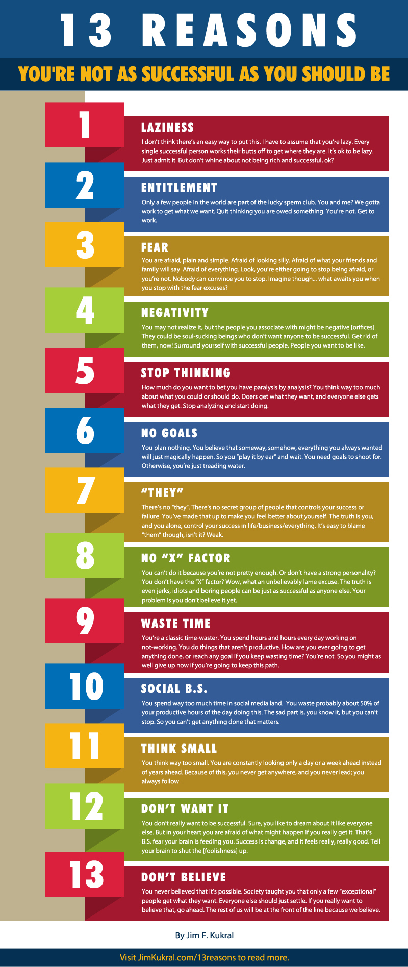13 reasons why you might not be successful1 13 Reasons Youre Not Successful [Infographic]