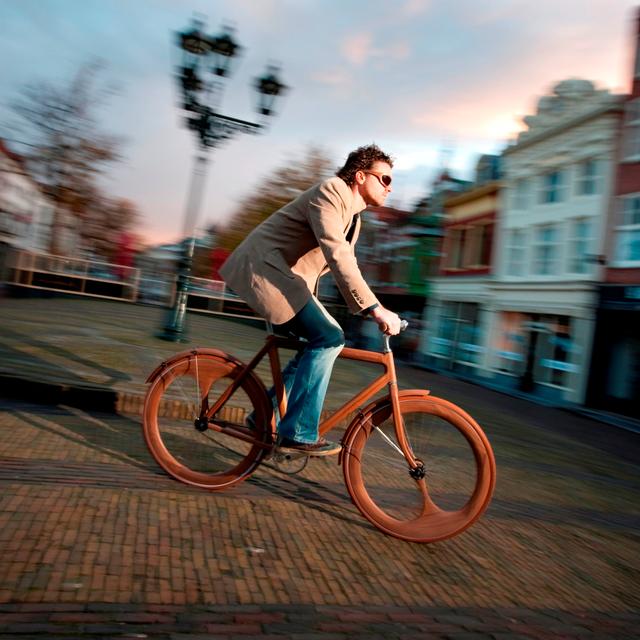 Wooden Bike by Jan Gunneweg
