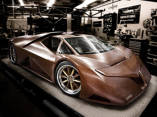 Splinter Hand-Made Wooden Car