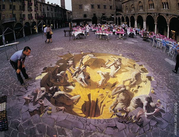 dies irae Art on the Edge: Unbelievable Street Art Illusions