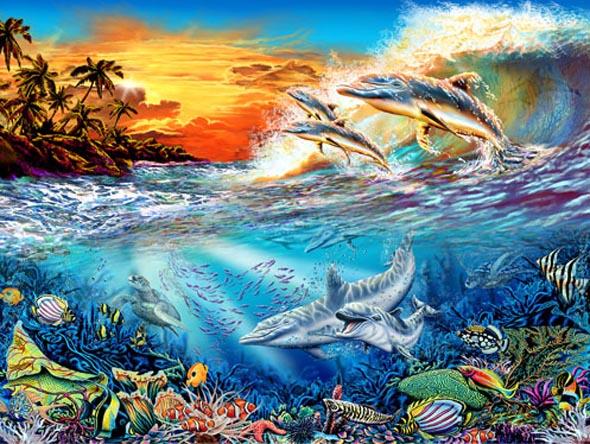 Find 19 Hidden Dolphins