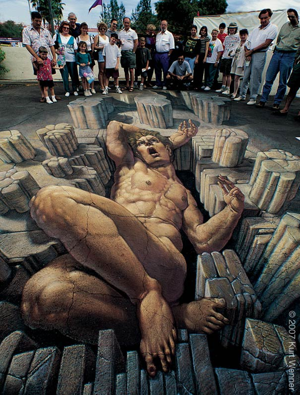 giant Art on the Edge: Unbelievable Street Art Illusions