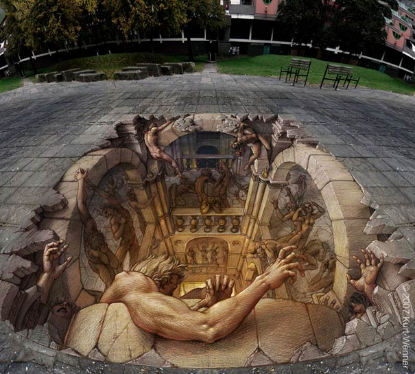 hell Art on the Edge: Unbelievable Street Art Illusions