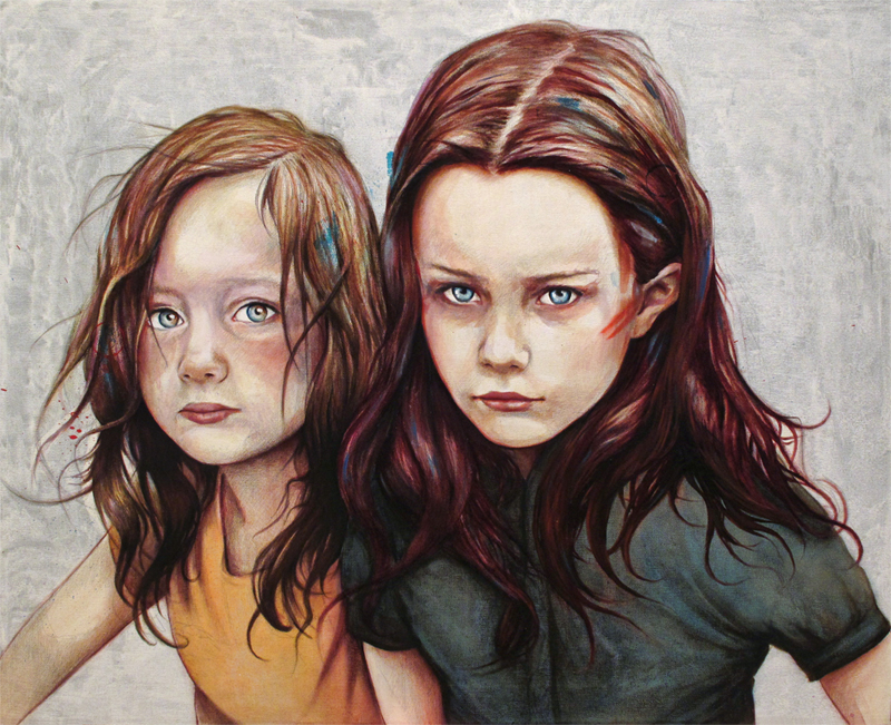kierra and darcy 20 Marvelous Paintings from Michael Shapcott