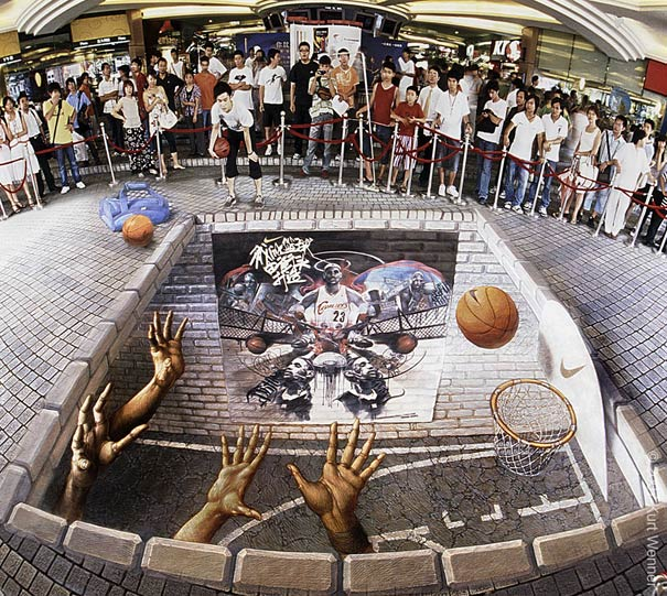 nike lebron james Art on the Edge: Unbelievable Street Art Illusions